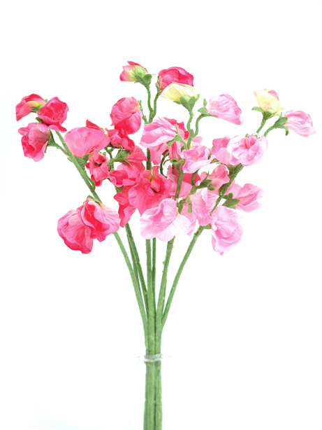 Artificial flowers pink sweet pea bunch mightylinksfo